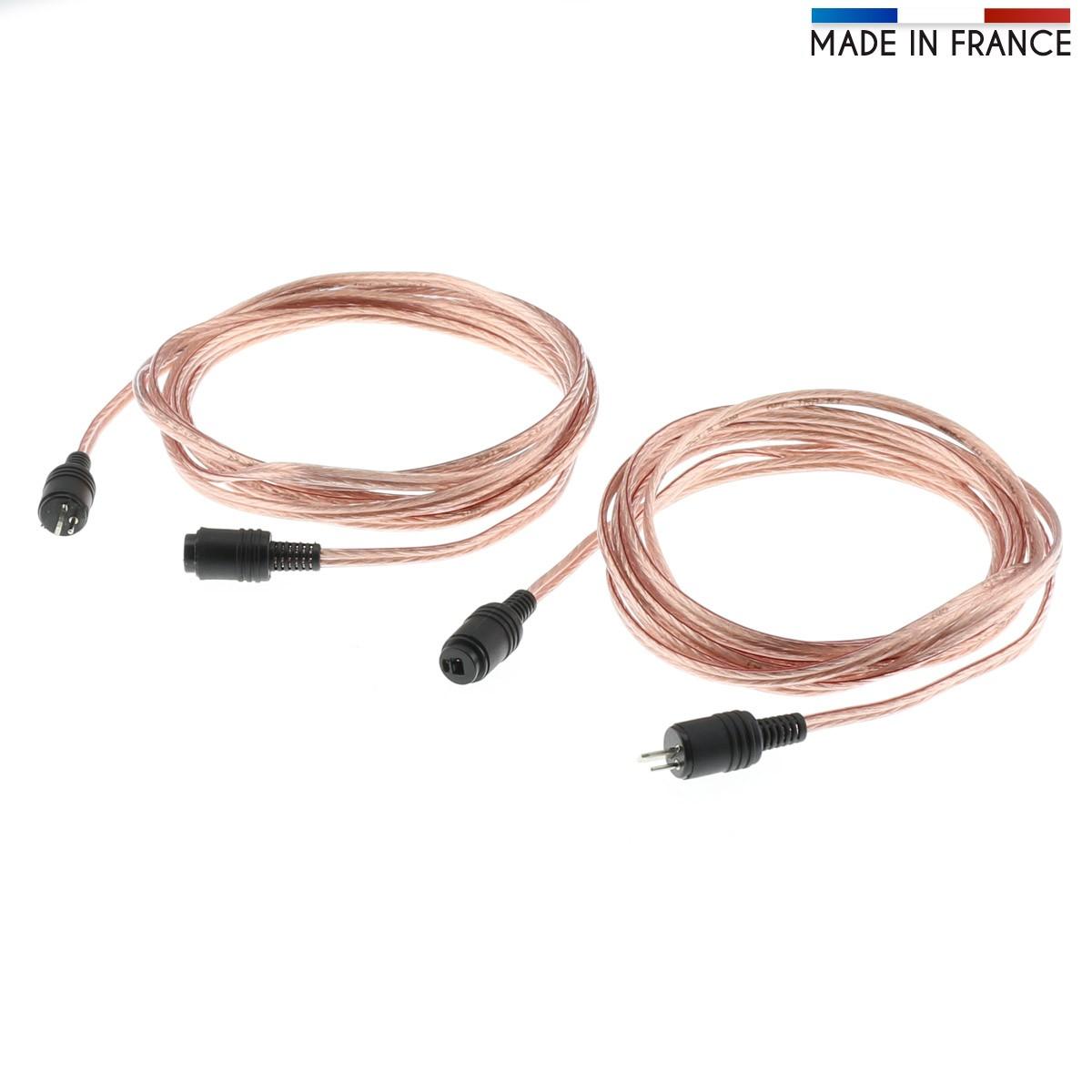 AUDIOPHONICS Câbles d'enceintes DIN 2 Broches pour Bang & Olufsen / NAIM (La paire) 3m
