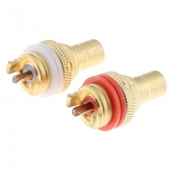 RCA Plugs Gold Plated (Pair)
