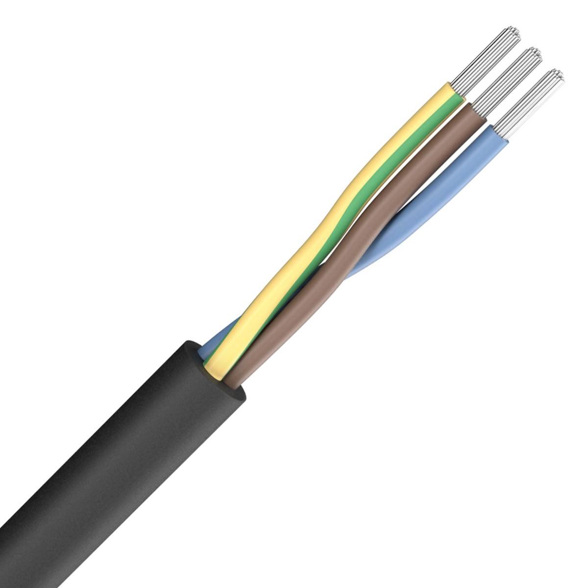 SOMMERCABLE SILCOFLEX Câble Secteur Silicone 3x1.5mm² Ø8mm