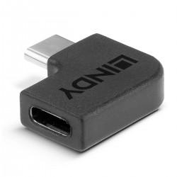 LINDY USB-C Female USB-C to Male USB-C Angled Adapter