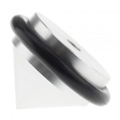 Spikes M3 Aluminum Rubber Ø31 x 21mm Black (Unit)