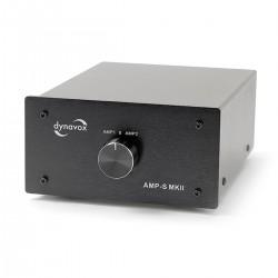 DYNAVOX AMP-S MKII Commutateur Sélecteur Audio pour Enceintes / Amplificateurs Noir