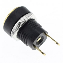 Jack DC 5.5 / 2.1mm Plug Gold Plated