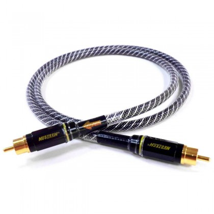 NEOTECH NEVD-2001 Coaxial Cable 75 Ohm Silver Shielded 1m