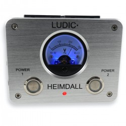 LUDIC HEIMDALL Distributeur Secteur Filtré 8 Prises Schuko Aluminium Argent