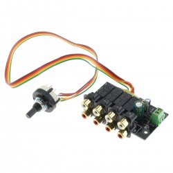 4 channel stereo source selector module