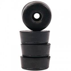 Pieds Caoutchouc Amortissant 25x10mm Noir (Set x4)