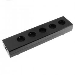 AUDIOPHONICS MPC5 STEALTH Distributeur Secteur 5 Ports Aluminium Noir