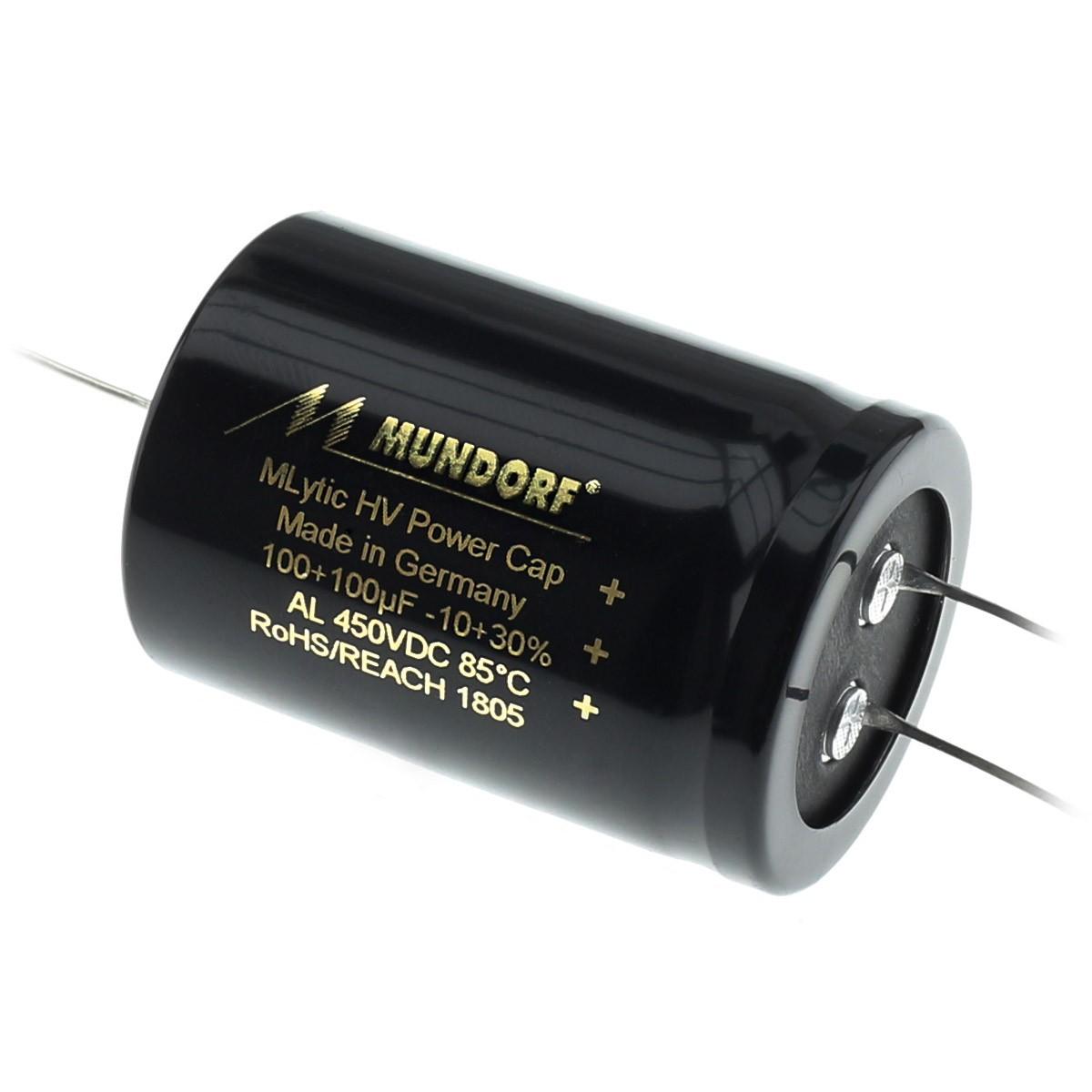MUNDORF MLYTIC HV Capacitor 450V 100 + 100μF