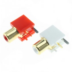 RCA Plugs Gold Plated for PCB (La paire)