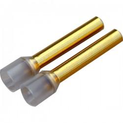 WBT-0444 Embouts avec isolant pour cable 6,00mm² (x10)