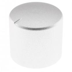 Aluminum Button 25mm Ø6mm Silver