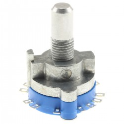 Selector 2x5 Positions Stereo Round Axis