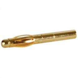 DAYTON AUDIO GOLD 16-12 Fiche Banane Plaquée Or à souder Ø2,5mm (Unité)