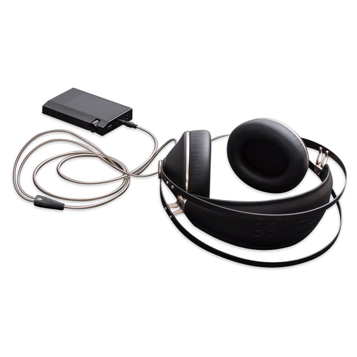 MEZE 99 SERIES Câble de Modulation Jack 4.4mm Symétrique vers 2x Jack 3.5mm Cuivre OFC Plaqué Argent 1.3m