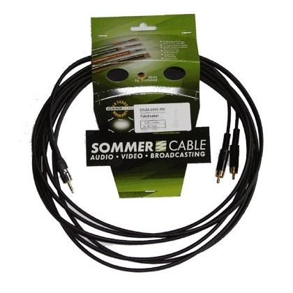 SOMMERCABLE ONYX Câble de Modulation JACK 6,3mm - 2 RCA 5m