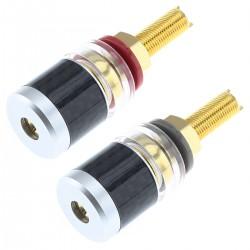 ELECAUDIO BP-207 Binding Posts Carbon / Gold Plated 24K Ø5.5mm
