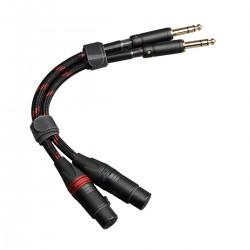 TOPPING TCT3 Câble de Modulation Symétrique Jack 6.35mm TRS Mâle vers XLR 3 Pôles Femelle Cuivre OCC 25cm (La paire)