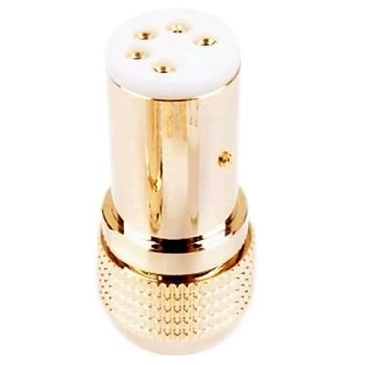 1877PHONO TAD-1G Connecteur DIN Femelle 5 Broches Plaquée Or 24k