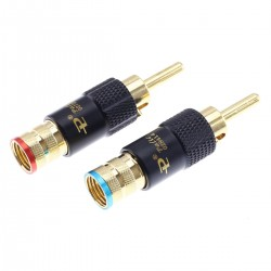 Banana Plugs Gold Plated Lockable Ø9mm (The pair)