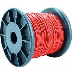 ELECAUDIO FC110T Fil de Câblage Cuivre FEP 1mm² (Rouge)