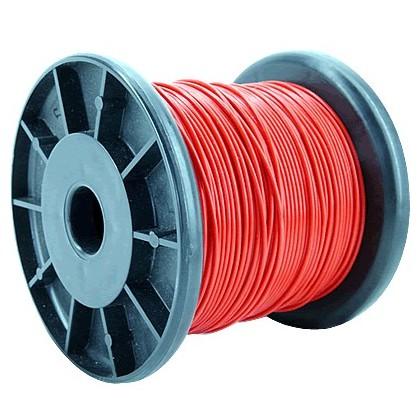 ELECAUDIO FC110T Fil de Câblage Cuivre FEP 1.0mm² (Rouge)