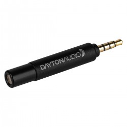 DAYTON AUDIO IMM-6S Measurement Microphone for Smartphones and Tablets