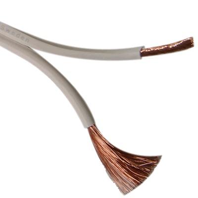 JANTZEN AUDIO SUPRA 5N Câble Haut-parleur OFC Blanc PVC 2x2.5mm²