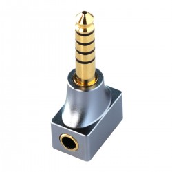 DD DJ30A Female Jack 3.5mm to Male Balanced Jack 4.4mm Adapter Gold Plated