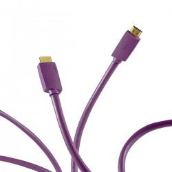 FURUTECH HF-X-NCF Câble HDMI 2.1 8K/60Hz 4K/120Hz 48Gbps HDCP2.3 eARC HDR10+ Cuivre OFC plaqué Argent 1.2m
