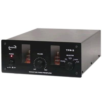 DYNAVOX TPR-3 Préamplificateur à tube avec entrée Phono (MC/MM) noir