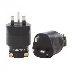 FURUTECH FI-UK NCF (R) Main Connector UK 250VAC 13A NCF Alpha Treated Rhodium Plated Copper Ø20mm