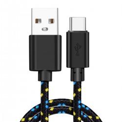 Câble USB-A Mâle vers USB-C Mâle 1m