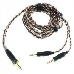 SIVGA Câble pour Casque Jack 2.5mm Symétrique vers 2x Jack 2.5mm Mono Cuivre OCC 6N 1.8m