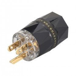 VIBORG VM503G Power Connector Type B Pure Copper Plated Silver / Gold 24k Ø19mm