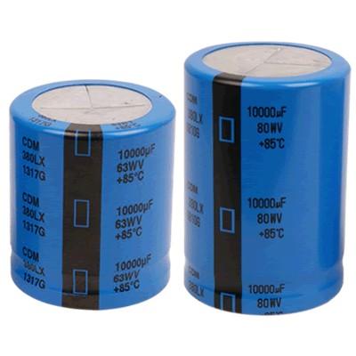 Capacitor CORNELL Dubilier 380LX aluminum 50V 6800μF