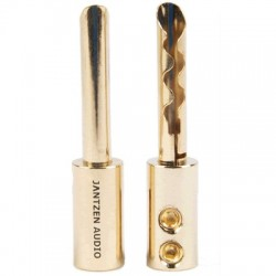 JANTZEN AUDIO Banana Plug BFA Gold Plated Ø 4mm (La paire)