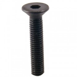 Screw TFHC countersunk head Steel BTR M3x08mm Black (x10)