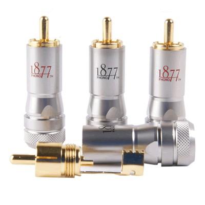 1877PHONO ZSP-4 Connecteurs RCA Pin OCC Argent Ø 8.2mm (Set x4)