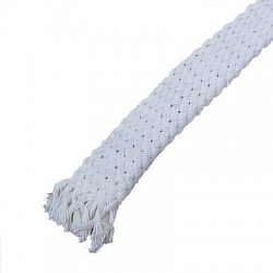 Sheath Natural cotton for cable Ø 18 - 25mm White