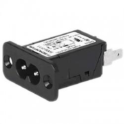 Schurter 5008 Embase IEC pour C7 (C8) avec filtre EMI 250V 2.5 A