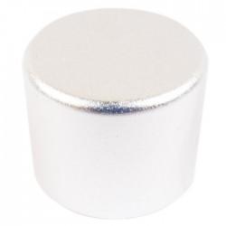 Bouton aluminium 25mm Silver PGA-8CH Axe cranté Ø 6.0mm
