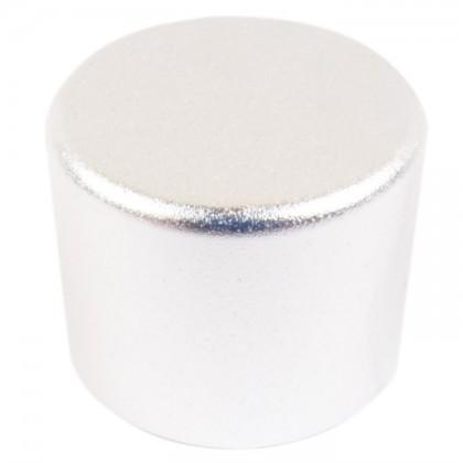 Knob Aluminium Notched Shaft 25mm Ø 6mm Silver for PGA-8CH