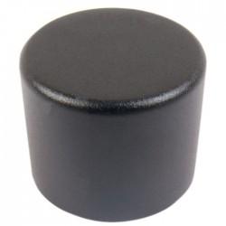 Bouton aluminium 25mm Noir PGA-8CH Axe cranté Ø 6.0mm