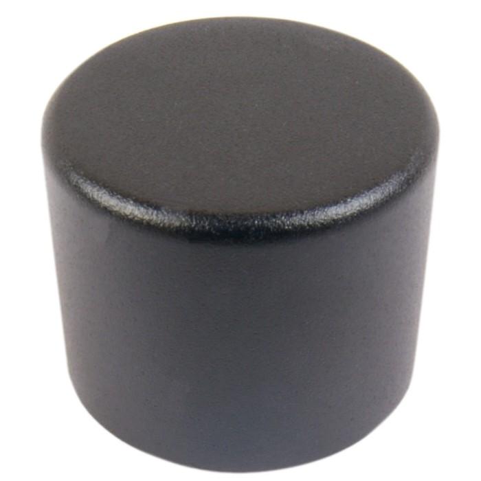 Knob Aluminium Notched Shaft 25mm Ø 6mm Black for PGA-8CH