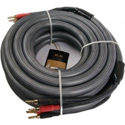 WM AUDIO LS-02 Câbles d'Enceintes Banane SCC 5m (La Paire)