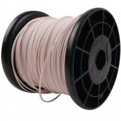 ELECAUDIO FC105T Fil de Câblage Cuivre FEP 0.5mm² (Blanc)