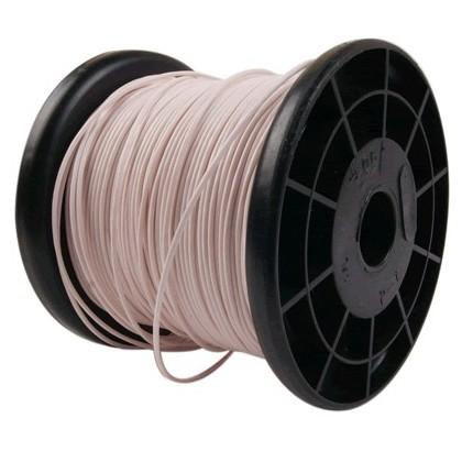 ELECAUDIO FC105T Fil de Câblage Cuivre FEP 0.5 mm² (Blanc)