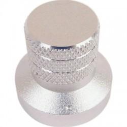 Bouton Aluminium Anodisé Axe Méplat 30×20×28mm Ø6mm Argent