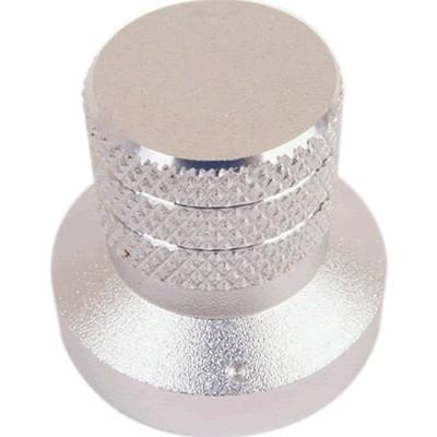 Bouton aluminium 30×20×28 mm Anodisé Argent Axe méplat Ø6mm